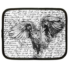 Vintage owl Netbook Case (XL)