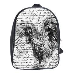 Vintage owl School Bags(Large)