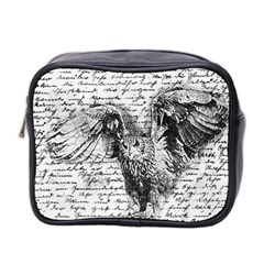 Vintage owl Mini Toiletries Bag 2-Side