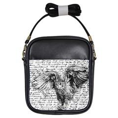 Vintage owl Girls Sling Bags