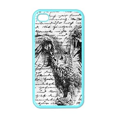 Vintage owl Apple iPhone 4 Case (Color)