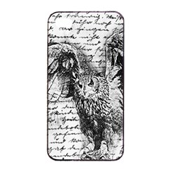 Vintage owl Apple iPhone 4/4s Seamless Case (Black)