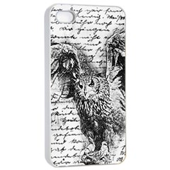 Vintage owl Apple iPhone 4/4s Seamless Case (White)