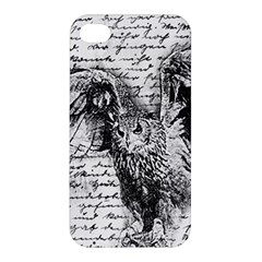 Vintage owl Apple iPhone 4/4S Premium Hardshell Case