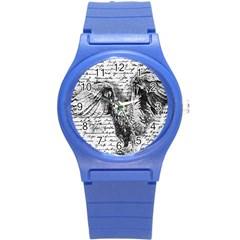 Vintage owl Round Plastic Sport Watch (S)