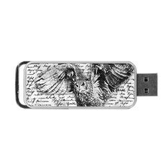 Vintage owl Portable USB Flash (Two Sides)