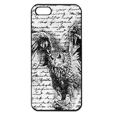 Vintage owl Apple iPhone 5 Seamless Case (Black)