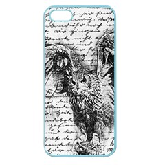 Vintage owl Apple Seamless iPhone 5 Case (Color)