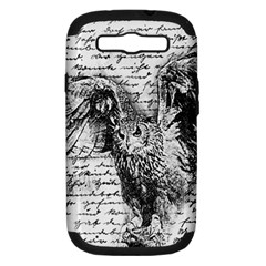 Vintage owl Samsung Galaxy S III Hardshell Case (PC+Silicone)