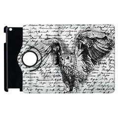 Vintage owl Apple iPad 2 Flip 360 Case