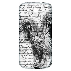 Vintage owl Samsung Galaxy S3 S III Classic Hardshell Back Case