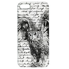 Vintage owl Apple iPhone 5 Hardshell Case with Stand