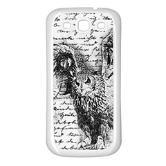Vintage owl Samsung Galaxy S3 Back Case (White)