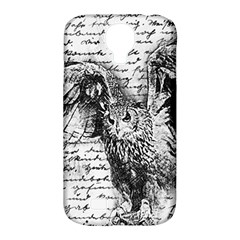 Vintage owl Samsung Galaxy S4 Classic Hardshell Case (PC+Silicone)