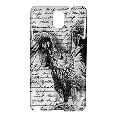 Vintage owl Samsung Galaxy Note 3 N9005 Hardshell Case