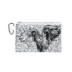 Vintage owl Canvas Cosmetic Bag (S)