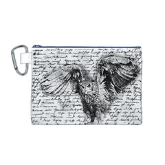 Vintage owl Canvas Cosmetic Bag (M)