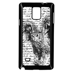 Vintage owl Samsung Galaxy Note 4 Case (Black)