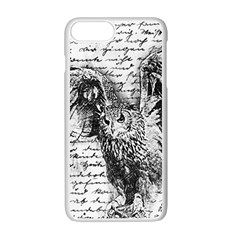 Vintage owl Apple iPhone 7 Plus White Seamless Case