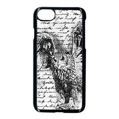Vintage owl Apple iPhone 7 Seamless Case (Black)