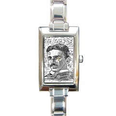 Nikola Tesla Rectangle Italian Charm Watch