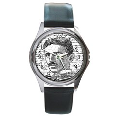 Nikola Tesla Round Metal Watch