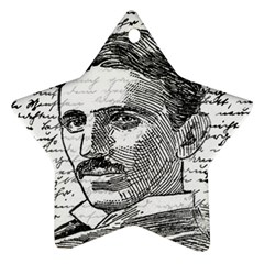 Nikola Tesla Ornament (Star)