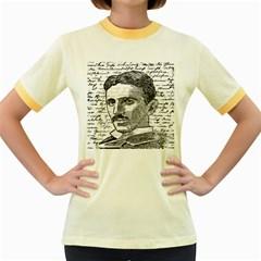 Nikola Tesla Women s Fitted Ringer T-Shirts