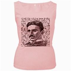 Nikola Tesla Women s Pink Tank Top