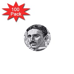 Nikola Tesla 1  Mini Buttons (100 pack)