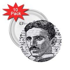 Nikola Tesla 2.25  Buttons (10 pack)