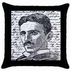 Nikola Tesla Throw Pillow Case (Black)