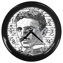 Nikola Tesla Wall Clocks (Black)