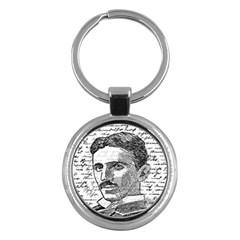 Nikola Tesla Key Chains (Round)