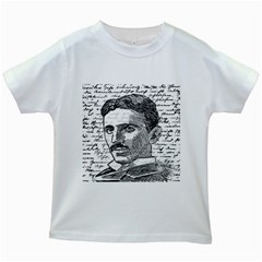 Nikola Tesla Kids White T-Shirts