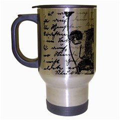 Nikola Tesla Travel Mug (Silver Gray)