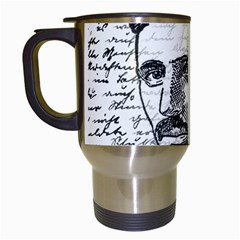 Nikola Tesla Travel Mugs (White)