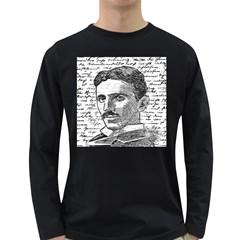 Nikola Tesla Long Sleeve Dark T-Shirts