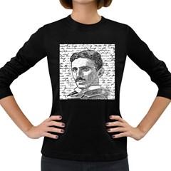 Nikola Tesla Women s Long Sleeve Dark T-Shirts