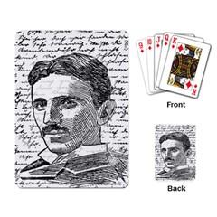 Nikola Tesla Playing Card
