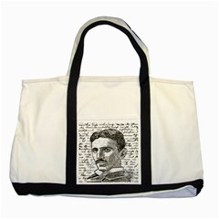 Nikola Tesla Two Tone Tote Bag