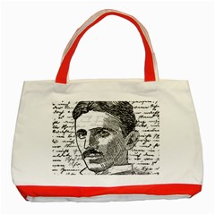 Nikola Tesla Classic Tote Bag (Red)