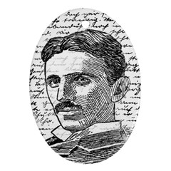 Nikola Tesla Oval Ornament (Two Sides)