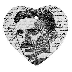 Nikola Tesla Heart Ornament (Two Sides)
