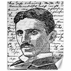 Nikola Tesla Canvas 16  x 20