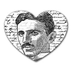 Nikola Tesla Heart Mousepads