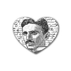 Nikola Tesla Rubber Coaster (Heart)