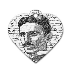 Nikola Tesla Dog Tag Heart (Two Sides)