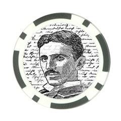 Nikola Tesla Poker Chip Card Guard