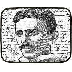 Nikola Tesla Double Sided Fleece Blanket (Mini)